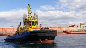 Tug SAAM Targui Ship Delivery TOS
