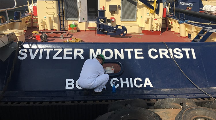 Ship Delivery TOS Svitzer Catuan