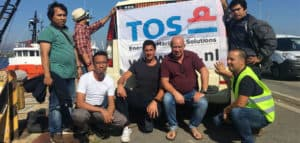 Ship delivery crew Portugal TOS