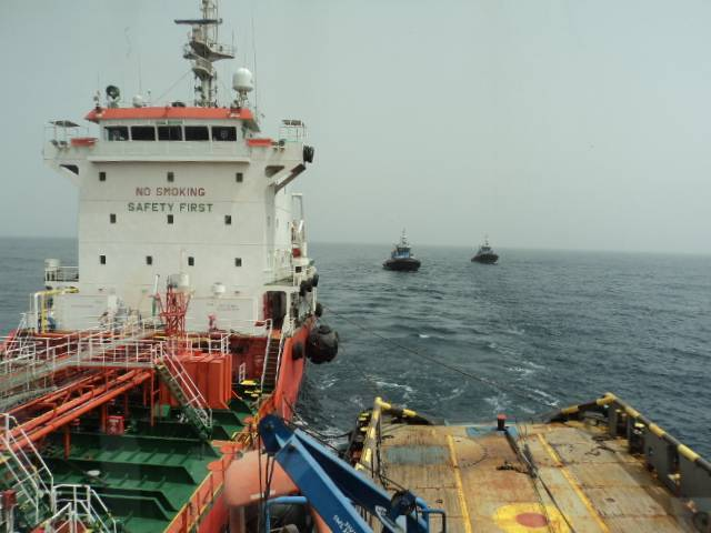 Bunkering double tow TOS
