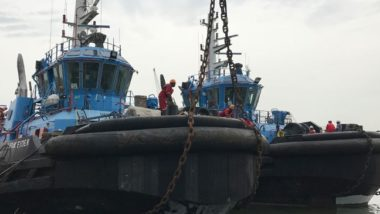 towed tugs ship delivery TOS