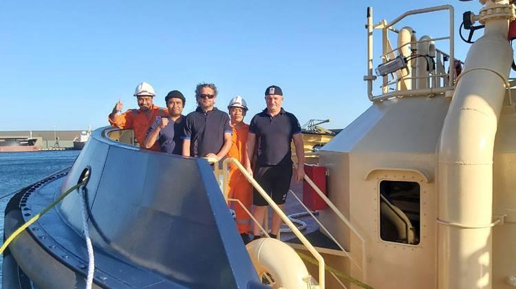 Crew delivers three Svitzer tugs TOS